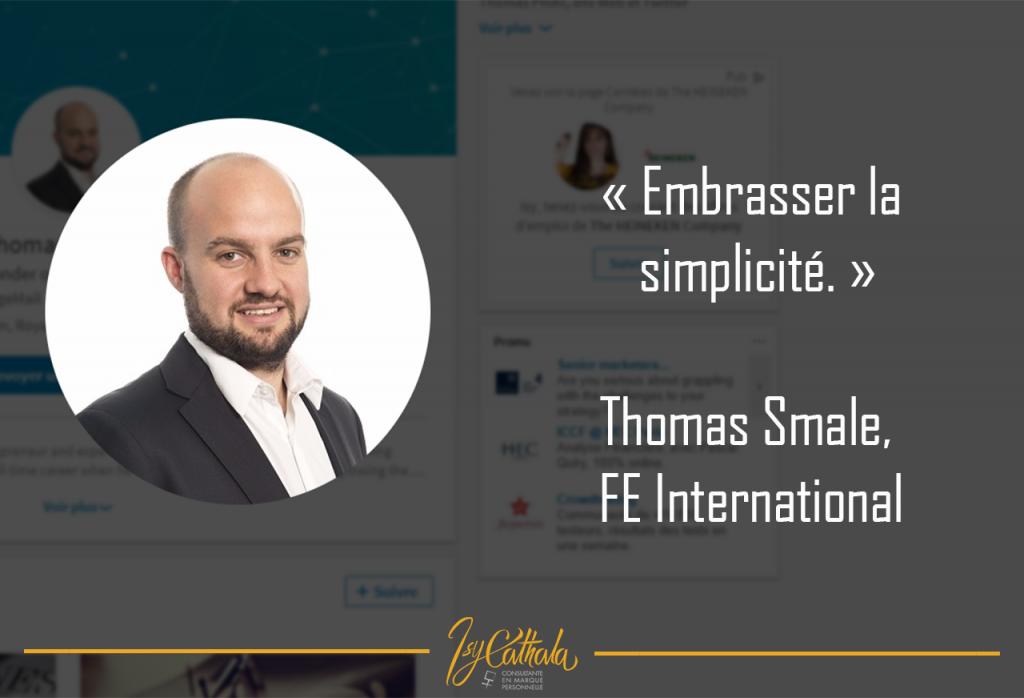 isy cathala personal branding Thomas Smale,