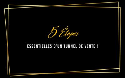 5 étapes essentielles d'un tunnel de vente !